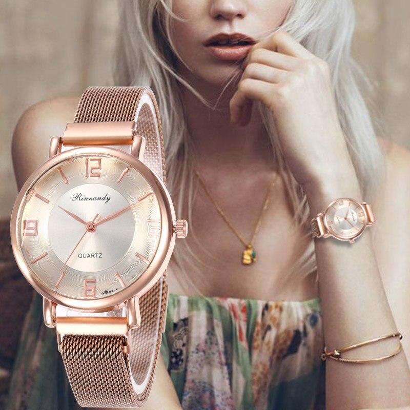 Reloj de pulsera con hebilla magnética y esfera minimalista de acero inoxidable deportivo de cuarzo de lujo para WJ-8568 regalo de San Valentín