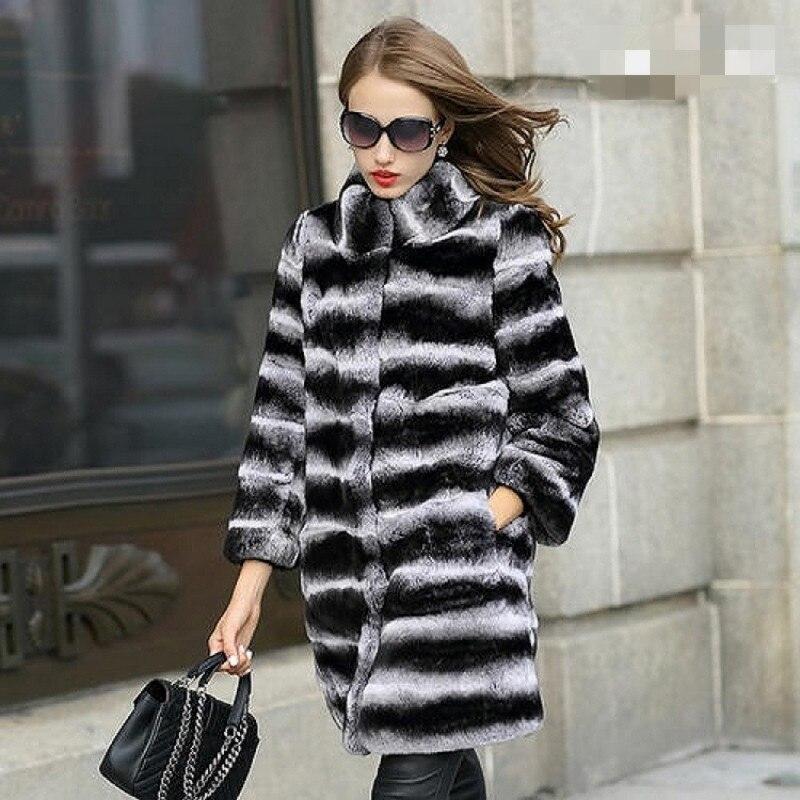 20201Rabbit Fur Coat Detachable Sleeve Bottom Transformer Demolition Prolonged Warming High Fashion Women Natural Fur Thick