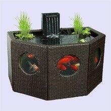 Patio Pond Lily Tub Octagon/Half Moon Rattan Wickerwork Panel Window Garden Water Feature Koi Oversize fish tank or Hydroponics