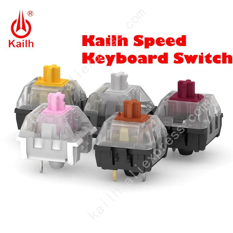 Переключатель скоростной Kailh для механической клавиатуры «сделай сам», золотистый, серебристый, медный, толстый, золотистый, розовый, бронз...