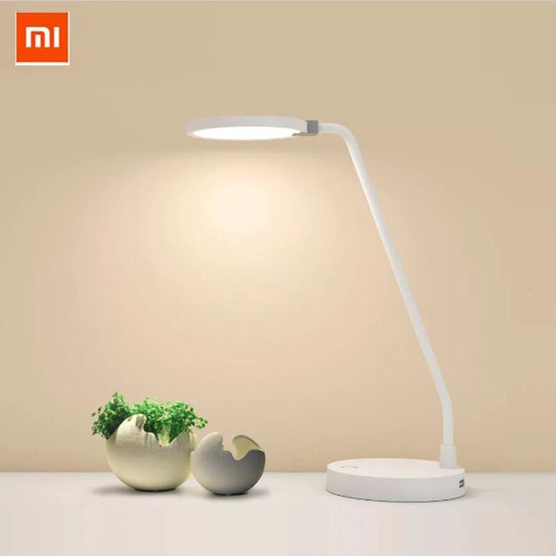 Original xiaomi coowoo inteligente led lâmpada de energia 4000 mah 2usb controle inteligente proteção para os olhos luz ajustável mesa lâmpada
