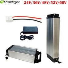 Hinten Rack Elektrische fahrrad Batterie 36V 48V 52V 60V 15AH 20AH 25AH 30AH 18650 Zell wiederaufladbare lithium Ebike für 500-1500W Ebike