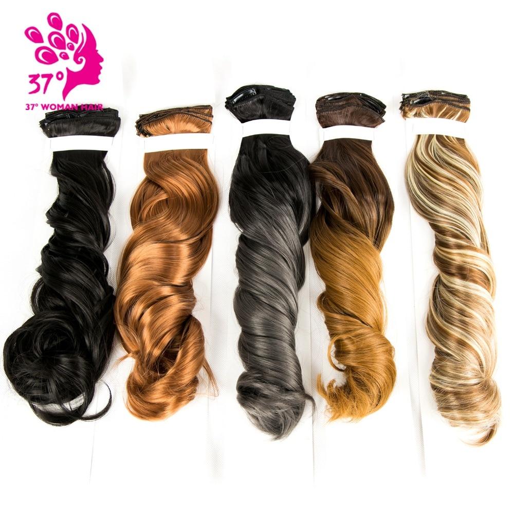 20 「合成オーバーヘッド毛クリップ 16 クリップ 7 ピース/セット Extenciones の毛自然なヘアピース毛延長のための