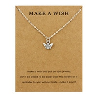 Top Sale Friendship Statement Big Sister Middle Little Sisters Flamingo Unicorn Fashion Honeybee Bees Bee Necklaces for Women
