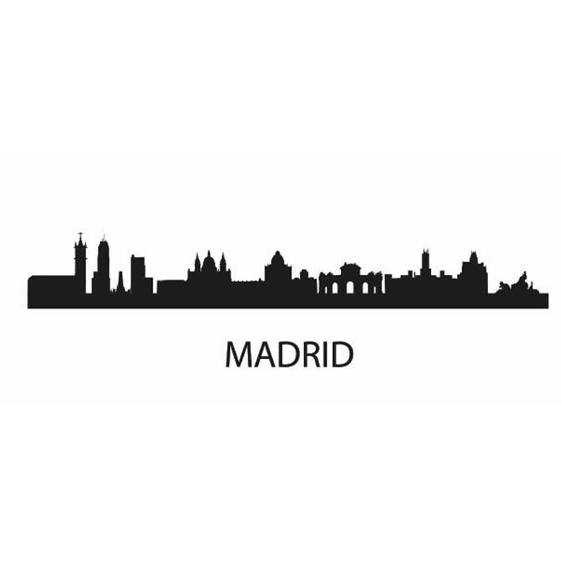 Calcomanía de la ciudad de MADRID, pegatina de vinilo para coche, decoración de pared, Mural artístico para sala de estar, decoración del hogar, Adhesivo de pared de paisaje