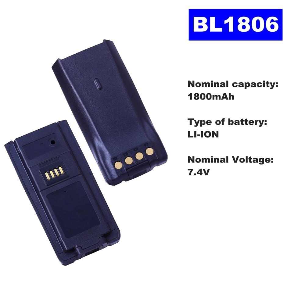 7.4V 1800mAh LI-ION Radio Battery BL-1806 For HYT Walkie Talkie PT580H Two Way Radio