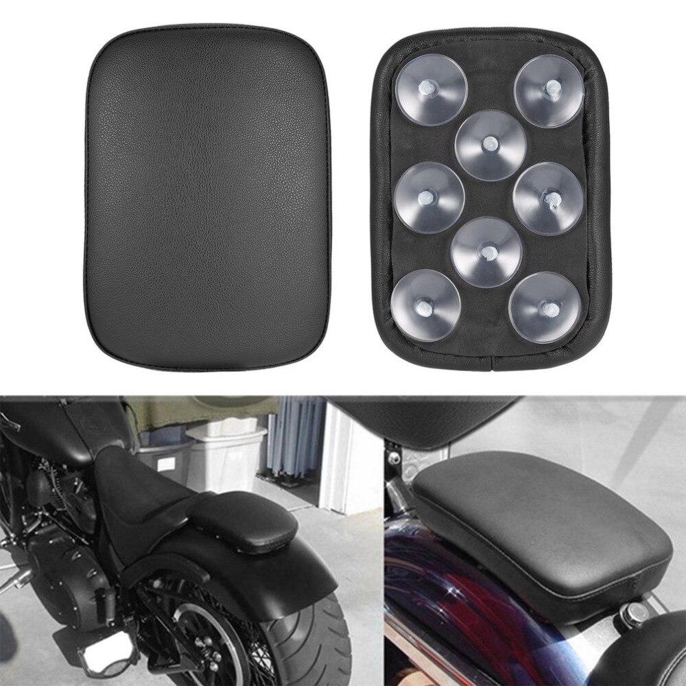 Para harley personalizado chopper leve durável acessórios da motocicleta retangular pillion almofada do passageiro assento 8 ventosa quente