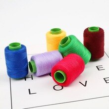 Fil à coudre multicolore, 300m, Mini bobine de fil à coudre industriel, pour Machine, fil de broderie domestique, accessoires de couture manuels