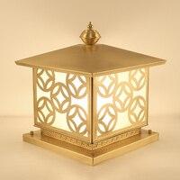 Chinese waterproof outdoor lamp durable copper landscape lighting Garden Courtyard Villa Chapiter light
