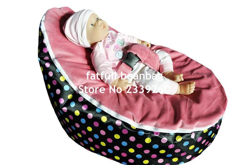 Solo cubrir, sin rellenos-mini dots bolsa de frijol para bebé silla portátil en el interior