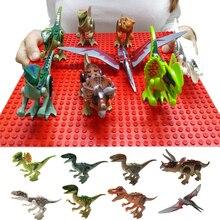빌딩 블록 어린이 조립 장난감 벽돌 공룡 쥬라기 세계 Pterosaurs 트리 케라톱스 피규어 모델 어린이를위한 장난감 선물