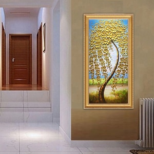 DONGMEI OILPAINTING Hand painted oil painting Home Decor High quality  knife painting  flower pictures     DM182817