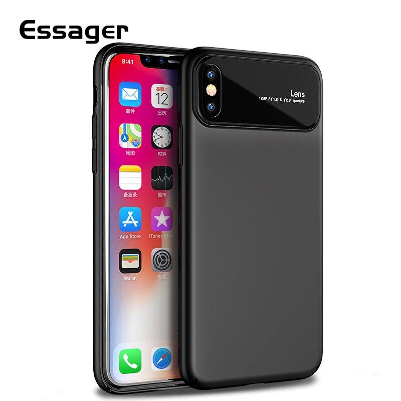 Funda de teléfono Essager X 10 8 para iPhone 7 Plus de cristal templado + carcasa trasera protectora de PC duro 8Plus para iPhone 7 Plus Coque Fundas