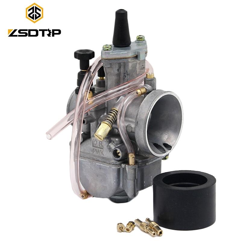 Мотоциклетный карбюратор ZSDTRP, 2 т, ходовые детали двигателя, скутеры, Байк ATV 21, 24, 26, 28, 30, 32, 34 мм, с мощной струей гонок