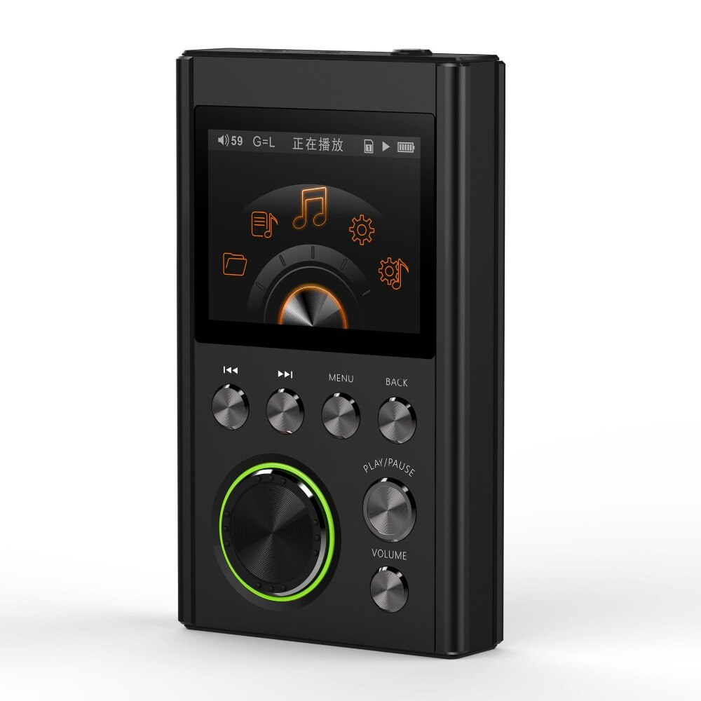 Reproductor de música HIFI MP3 SHMCI C5, DSD, profesional, MP3, soporta auriculares, amplificador DAC wm8965 DSD256 con OLED Zishan DSD