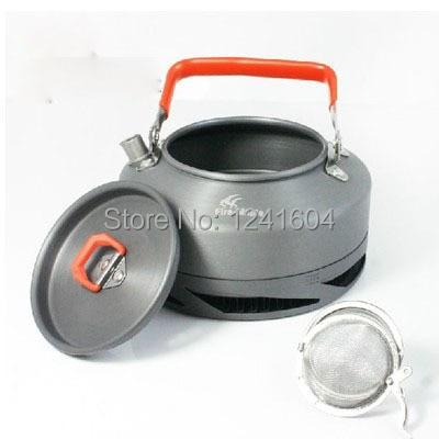 Venta caliente cafetera 0,8l Intercambiador de Calor olla de Camping al aire libre utensilios de cocina hervidor de hervidor campamento Equiment fuego Arce FMC-XT1