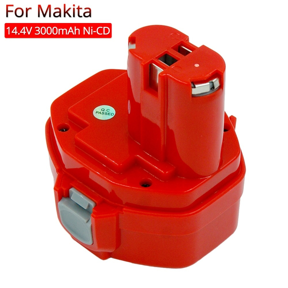 PA14 أدوات كهربائية بطارية قابلة للشحن 3.0Ah Ni-CD لماكيتا 14.4 فولت التدريبات اللاسلكي مفك بطارية 1420 1433 1434 1435 6337D