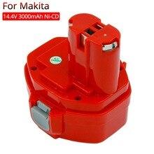 PA14 herramientas eléctricas batería recargable 3.0Ah ni-cd para Makita 14,4 V Taladro Inalámbrico destornillador batería 1420 1433 1434 1435 6337D