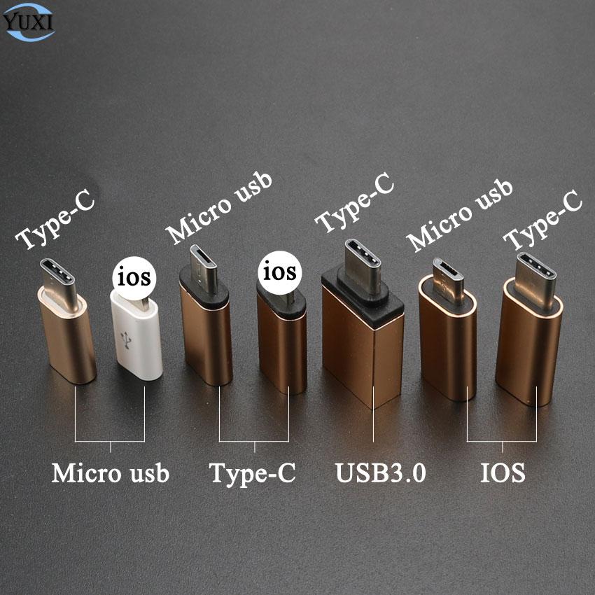YuXi Type-C конвертер для Micro USB 3,0 USB-C адаптер для iPhone и Android зарядное устройство/дата кабель Разъем для iOS порт