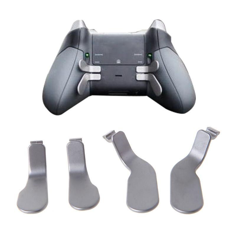 4 Uds botón disparador de parachoques paletas disparadores de pelo cerraduras juego de Metal accesorio de repuesto para Xbox One Elite Control inalámbrico