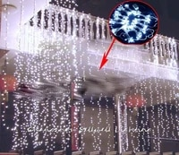 christmas decorations artificial christmas tree newled light wedding celebration backdrop hotel decoration 38m led lamp h231