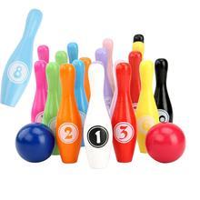 Jeu de jouets en bois coloré nombre de boules de Bowling jeux de Sport bébé début jouet éducatif en plein air intérieur reconnaître jouets ensemble