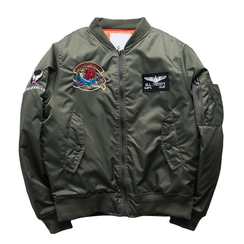 Chaqueta Bomber gruesa con apliques para invierno para hombre, abrigo de piloto para invierno para hombre, 5XL Parka de talla grande para hombre, ropa para hombre 2020