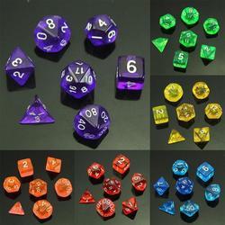 1 Набор из 7-сторонних игральных костей D4 D6 D8 D10 D12 D20 для MTG RPG D & D Poly dice настольной игры