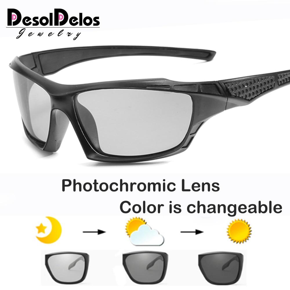 Gafas De Sol fotocromáticas polarizadas para hombres y mujeres, gafas fotocromáticas con cambio De color para conducir, gafas De Sol B1824