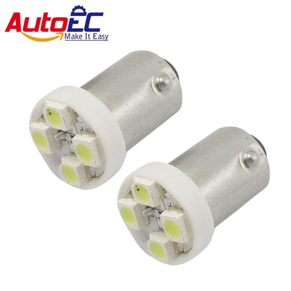 AutoEC 300 X BA9S 4SMD 1210 3528 T11 H6W T4W  BAY15D BA15S 3893 Car Auto Clearance Lights DC12V #LG01
