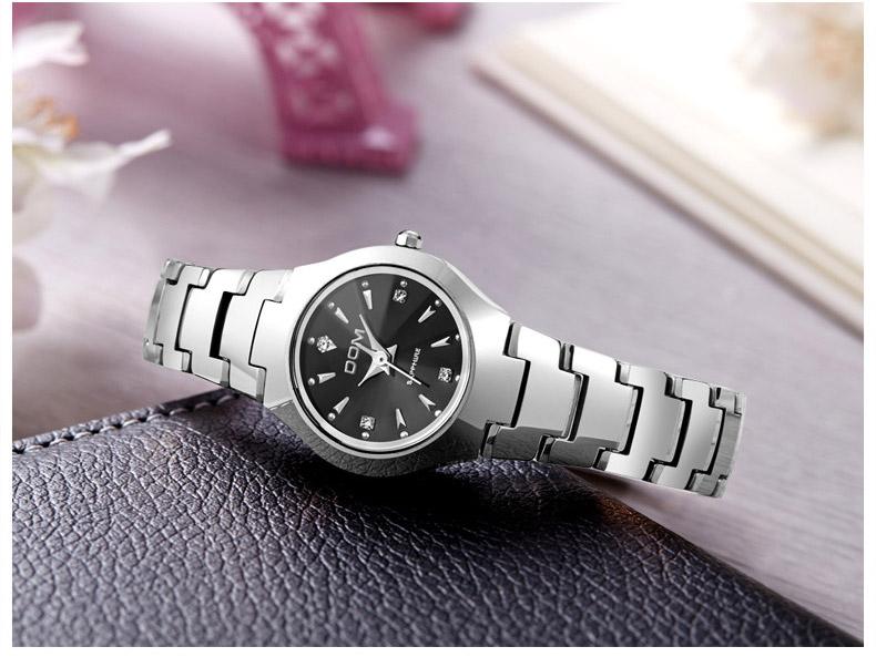 Hk dom luksusowe top marka męska zegarek wolframu stal wrist watch wodoodporna biznesu kwarcowy zegarek fashion casual sport watch 19