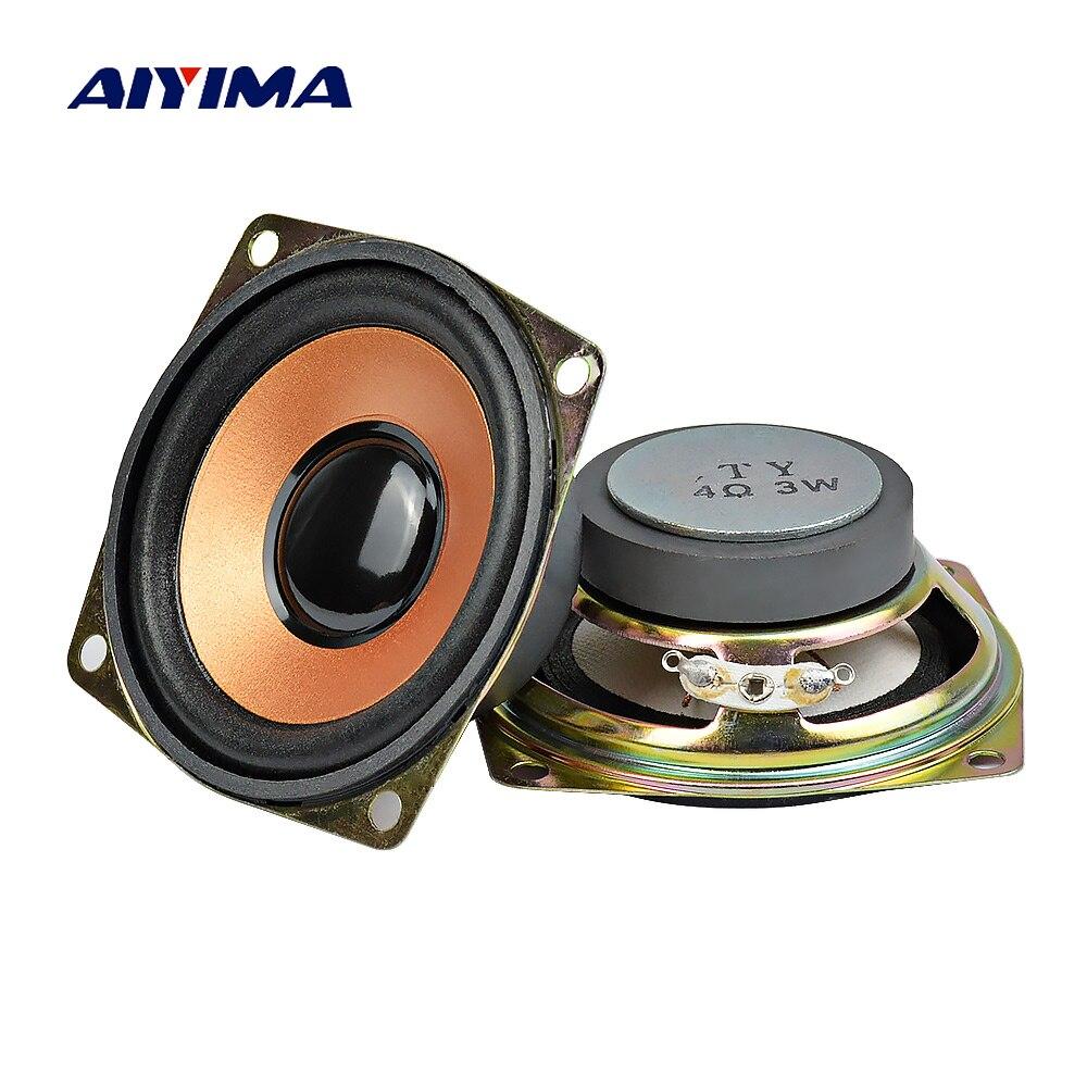AIYIMA, 2 uds., altavoces portátiles de Audio de 2,5 pulgadas, altavoz de sonido de Tweeter de 4Ohm y 3W, Altavoz Bluetooth para reproductor de música DIY