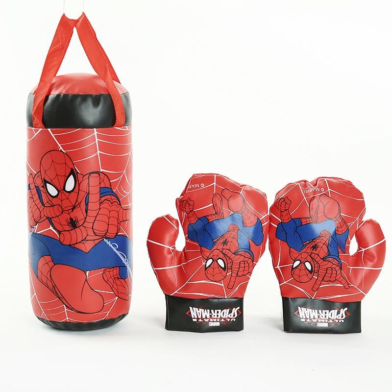 children boxing gloves inflatable sandbag hanging sports set kids training fitness 3 pieces sets
