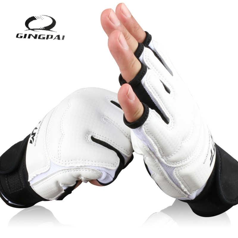 Half Finger Fight Boxing Gloves Mitts Sanda Karate Sandbag TKD Protector For Boxeo MMA Muay Thai Kick Boxing Training