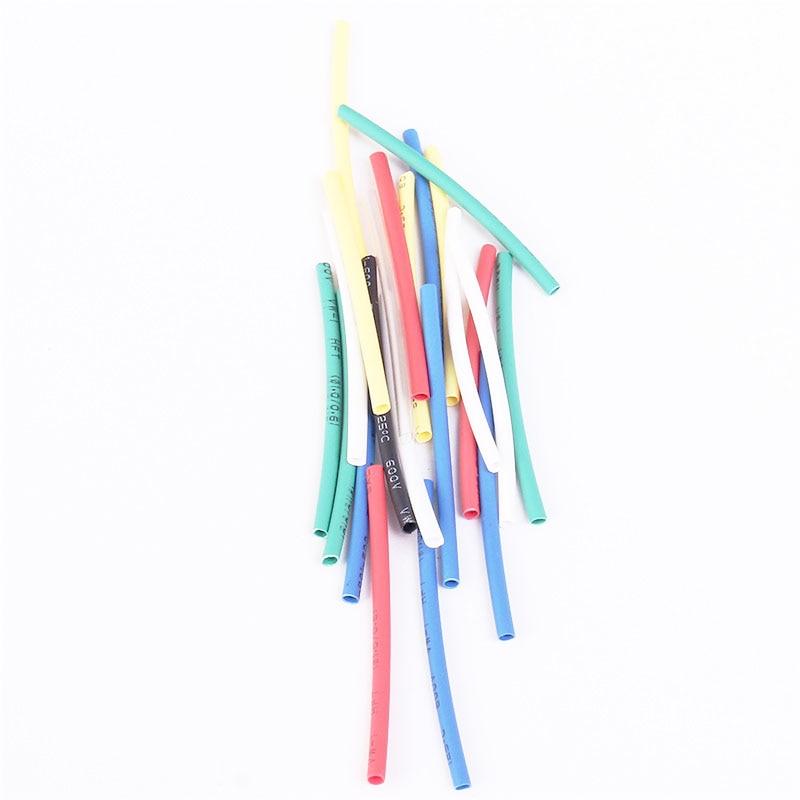 140 stücke 7 Farben 1,0mm Schrumpf Schlauch Tasche 20 stücke jeder Hemmende Polyolefinen Wrap Hülse Assorted Kit 1mm Schrumpfschlauch