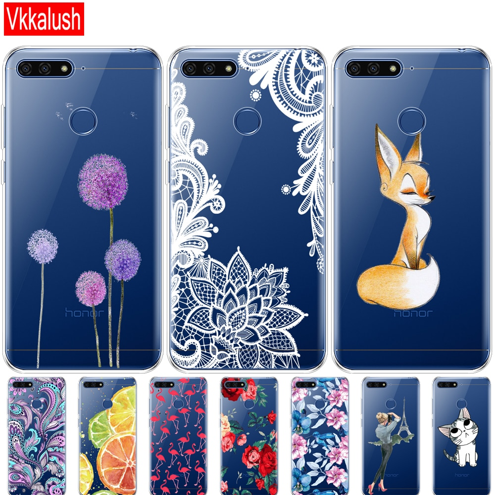 "Carcasa suave para teléfono funda para Huawei Honor 7a Pro 5,7 ""pulgadas AUM-L29 caso silicona de TPU blando de la contraportada del teléfono para Huawei Honor7A Pro"