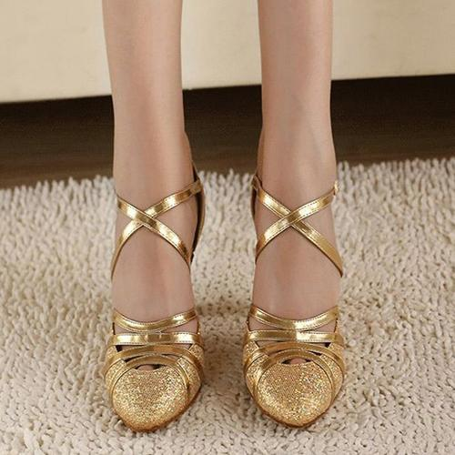 Ms Ladies High Heel Latin Shoes Women  Bling Shoes Ballroom Dancing Shoes