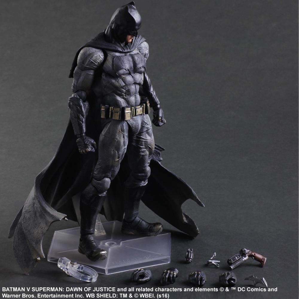 Play Arts KAI Batman v Superman Dawn of Justice NO.1 Batman PVC Action Figure Collectible Model Toy 25cm