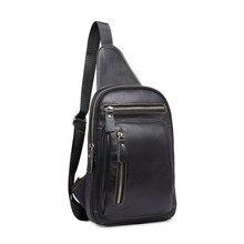 BARHEE hommes série coréenne mode en cuir véritable sac pour hommes en cuir de vachette hommes buste sacs travail facile à transporter sac de voyage pochette