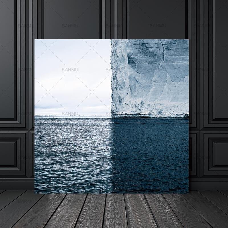 Lienzo pintura mar pared abstracta imágenes artísticas arte impresiones en lienzo cartel de pintura para pared decoración del hogar para arte de sala de estar