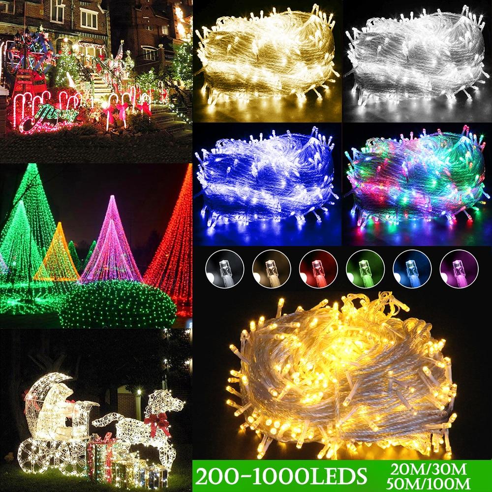 Guirnalda de cadena LED de hadas impermeable al aire libre AC220V para Navidad boda fiesta de Navidad D20