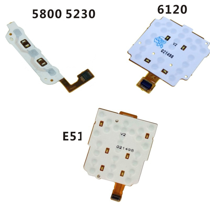 Para Nokia 5800 5230 6120 E51 teclado función teclas reemplazo de Cable flexible