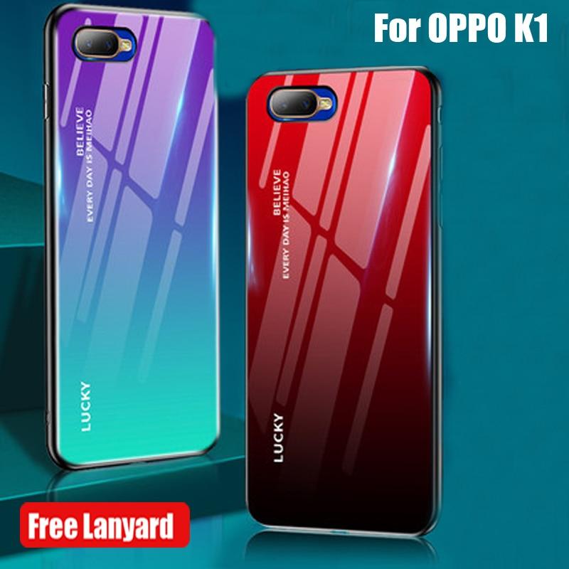 6,4 pulgadas para OPPO K1 funda para teléfono móvil para OPPO K 1 de templado de vidrio de cubierta para OPPO K1 k 1 carcasa de vidrio