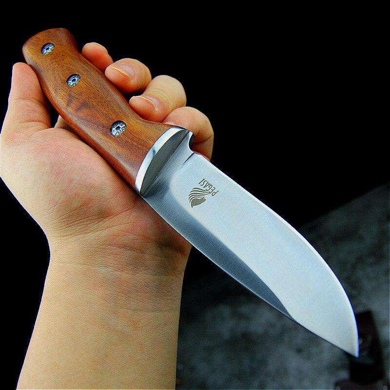 Pegasi japonês espelho de luz alta qualidade 9cr18mov faca tático faca caça ao ar livre defensiva afiada faca acampamento ao ar livre
