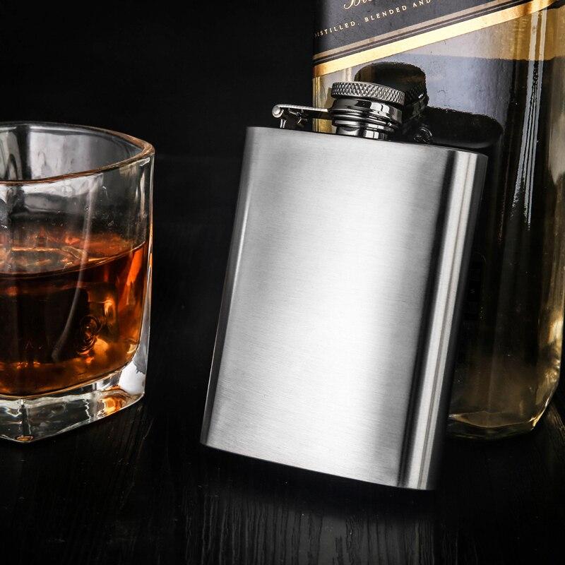 Petaca portátil de acero inoxidable 304, mini frasco de metal de 4oz para whisky, recipiente para alcohol de 100ml