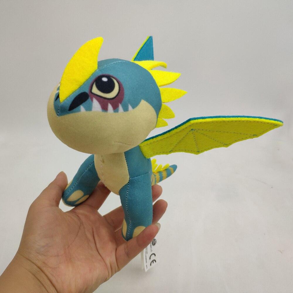 Dragão brinquedo de pelúcia stormfly dragão enchido boneca 18cm novo