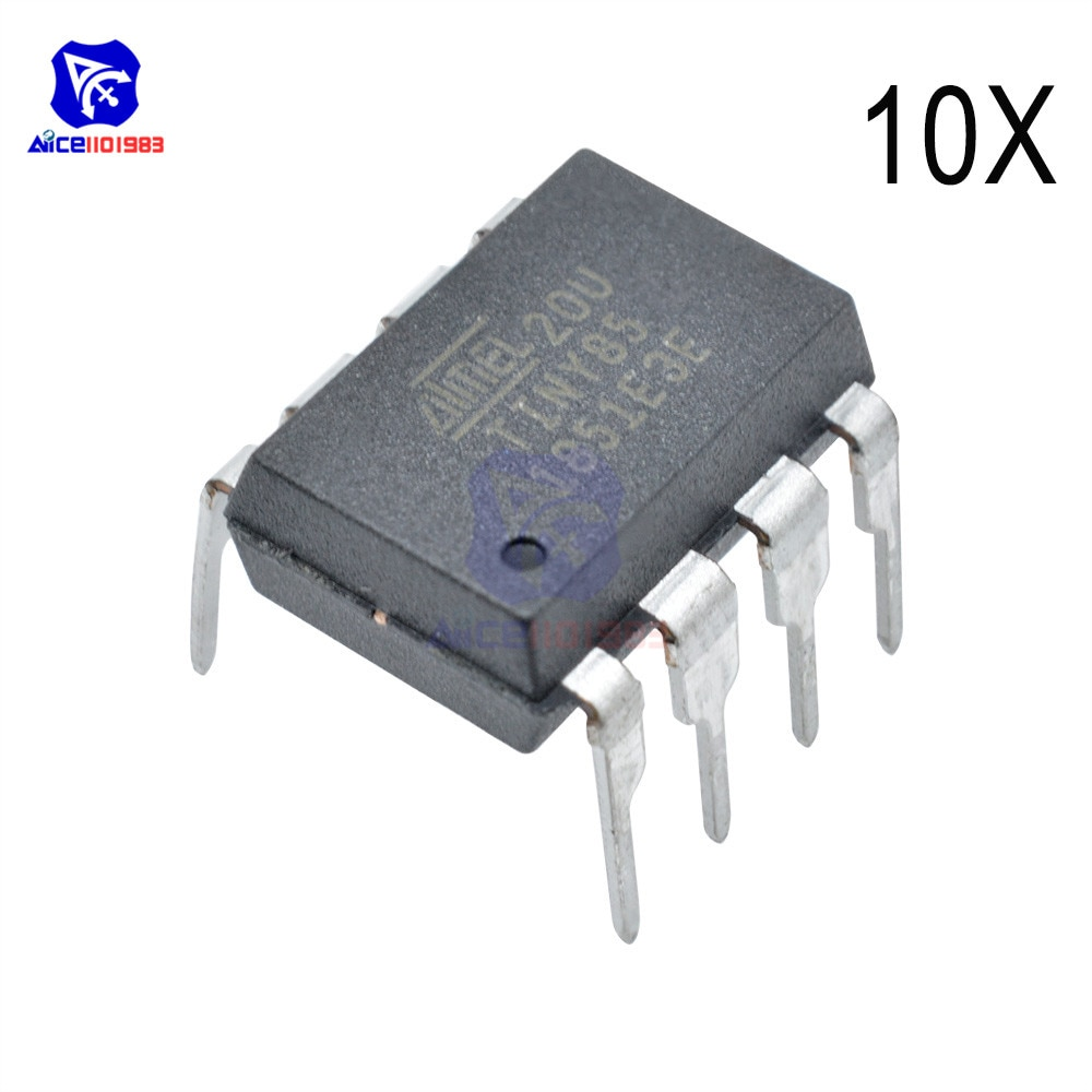 Diymore 10 шт./лот микросхемы IC ATTINY85-20PU ATTINY85 MCU 8 бит ATTINY 20 МГц 8 Pin DIP-8 ATTINY85 микроконтроллер интегральная схема