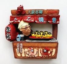 Autocollants de réfrigérateur 3D peints à la main Osaka   Boules de poulpes, aimants de réfrigérateur, Souvenirs de tourisme, autocollant magnétique de cadeau