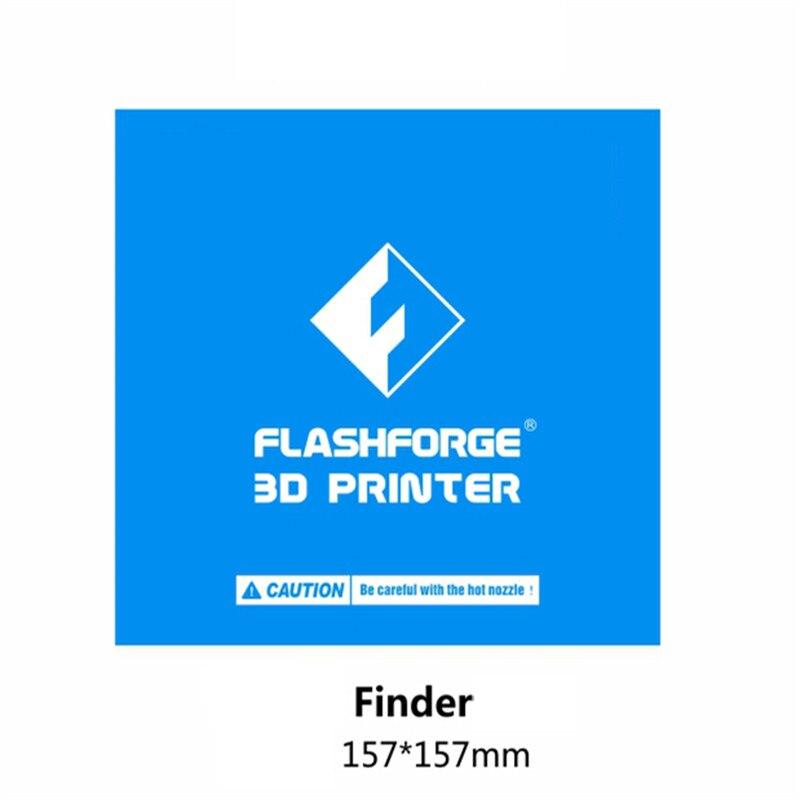 1 шт. 157*157 мм синяя лента для кровати с подогревом печать наклейка сборка пластина лента для Flashforge Finder 3D принтер
