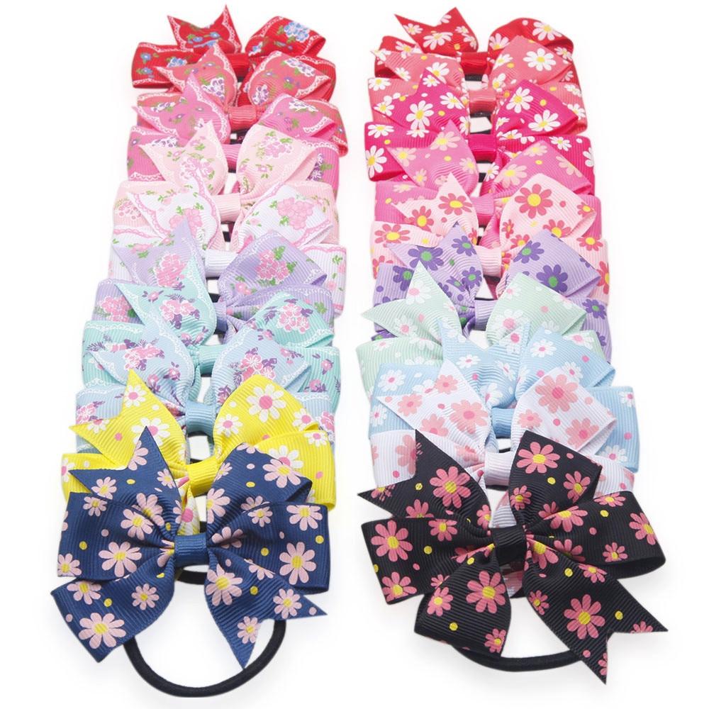 Accesorios para el cabello para niñas y bebés unicornio fiesta niños niñas hecho a mano arco Floral imprimir Anillo para el cabello accesorios de cabello cable lazos turbante